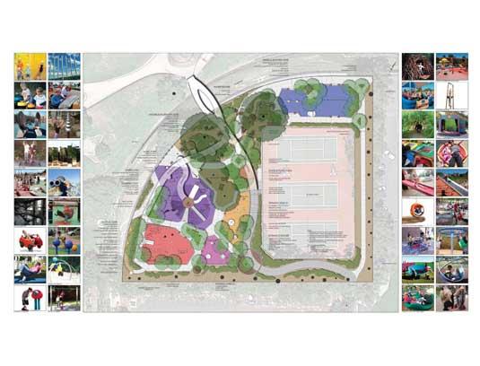 "Initial ""Big Picture"" Magical Bridge Playground Master Plan."