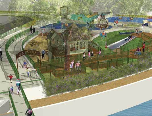 Magical Bridge Playground rendering