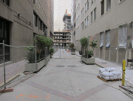 The existing service alley.