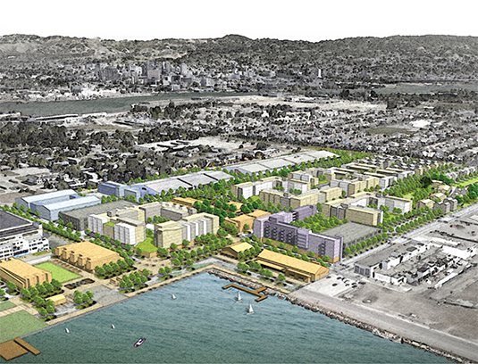 Alameda Point Site A is the first redevelopment project of the deomissioned naval air station. This new neighborhood is the gateway for the entire 1560 acres of Alameda point.