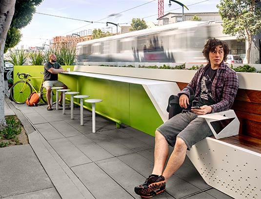 The scarcity of public space in the area escalates its value and supports the logic for its uncommon level of quality, detail, performance, and excellent execution.