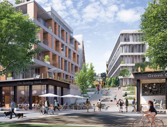 The comprehensive design reconnects surrounding communities with the shoreline, cultivates economic opportunities, and provides mixed-income housing.