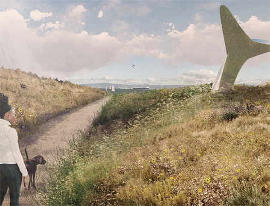The design embraces the existing wild character of the land, responding to its specific hydrology and topography and celebrating the connection to San Francisco's ecological history.