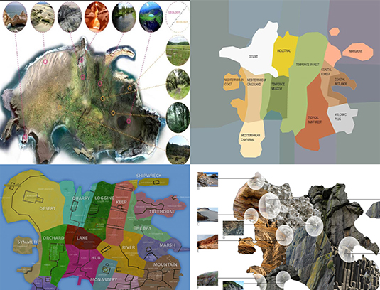GEOGRAPHICAL STUDIES Early mapping of the Island before civilization, biomes, geology, and map of island areas.
